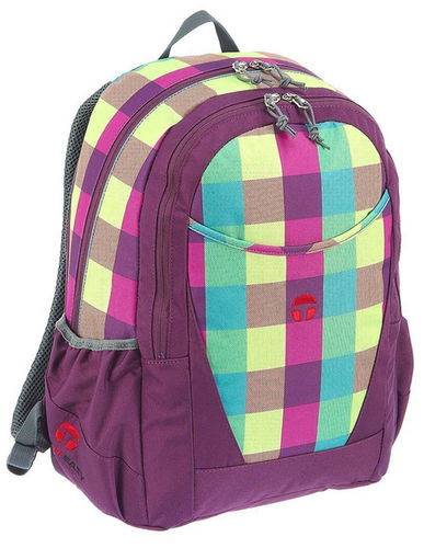 Take It Easy Schulrucksack Bowatex Rucksack Paris Lila Karo Bunt