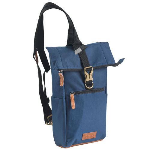 Shoulder Crossover Body Bag Bowatex Schultertasche Blau 45cm