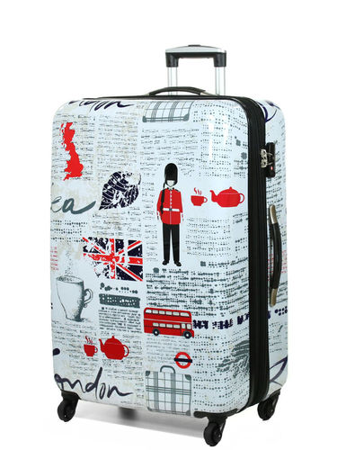 Motiv Reise Koffer Print Trolley Dehnfalte London Union Jack XL 78 cm Bowatex